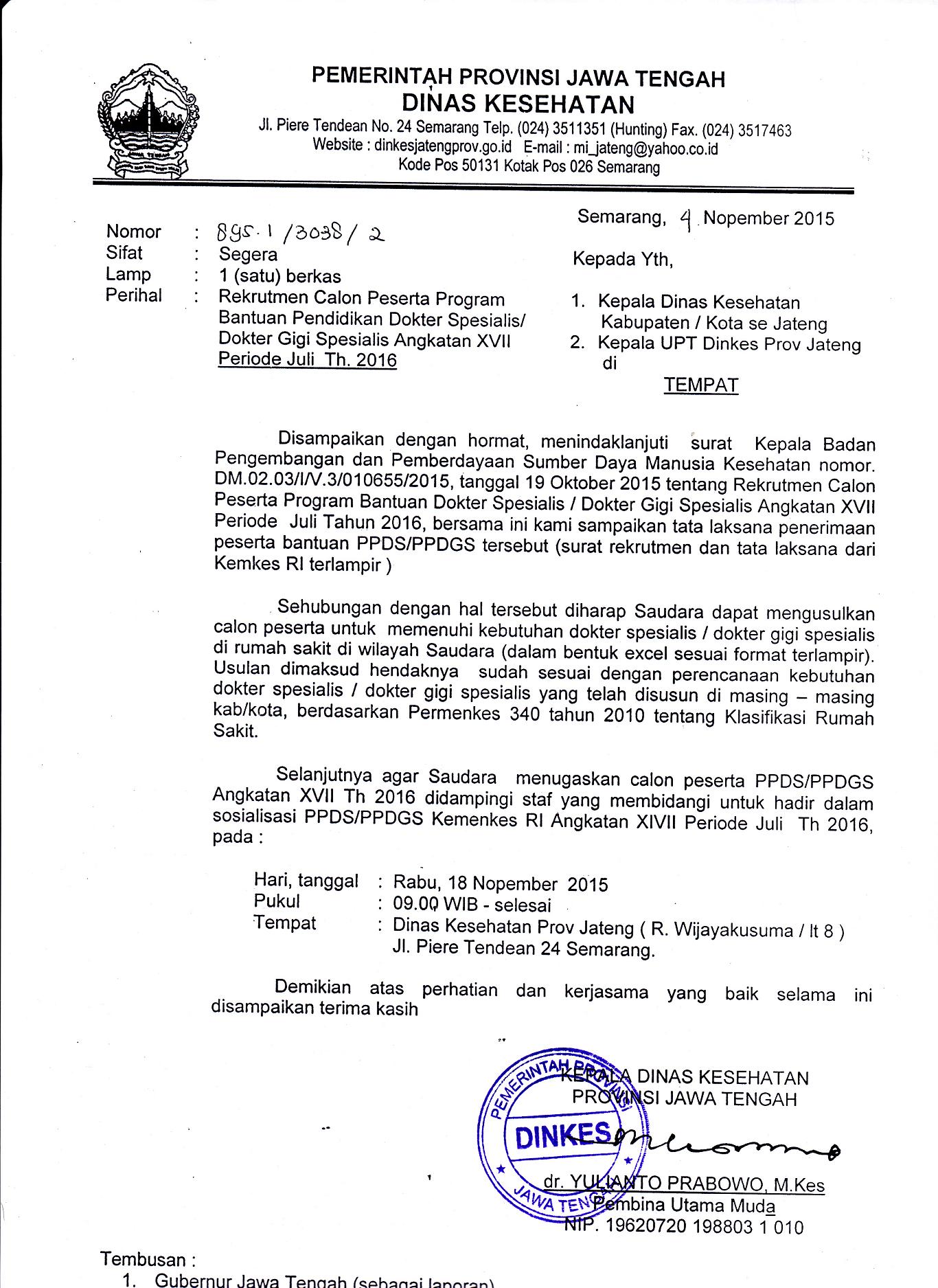 Dinas Kesehatan Provinsi Jawa Tengah